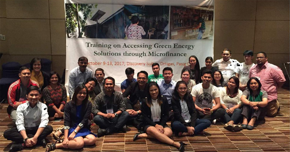 Training on Accessing Green Energy Solutions through Microfinance